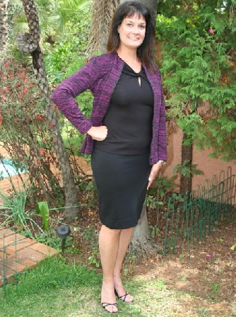 fuschiablack-jacket-skirt-and-twist-top