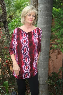 snake-print-cowl-and-pleated-tunic